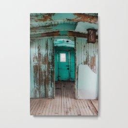 Train Cargo Door Metal Print