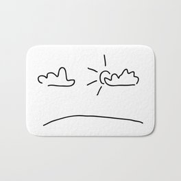 sky with the sun and clouds Bath Mat