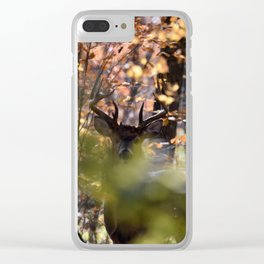 Waiting Whitetail Buck Clear iPhone Case