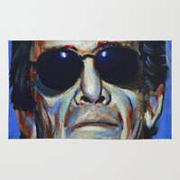 lou reed Area & Throw Rugs featuring Lou Reed by Buffalo Bonker