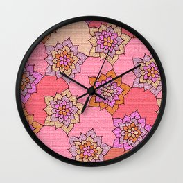 zakiaz hot pink lotus Wall Clock