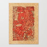 wood Canvas Prints featuring - wood - by Magdalla Del Fresto