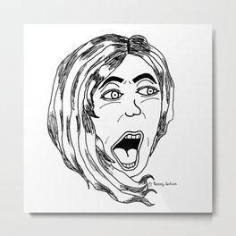 Scared Banshee Metal Print