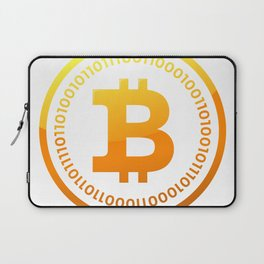 BITCOIN Symbol CRYPTO Laptop Sleeve