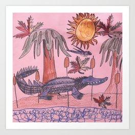 Swamp Hunt Art Print