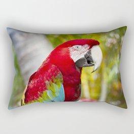 Green Winged Macaw Ara chloropterus Lahaina Maui Hawaii Rectangular Pillow