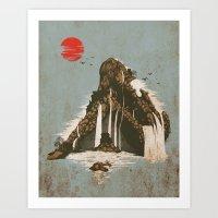 castle Art Prints featuring hidden castle by Steven Toang