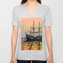 Sail Boston El Galeon Andalucia Unisex V-Neck
