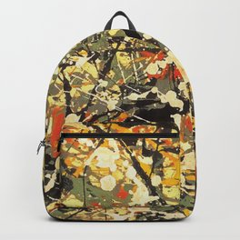 Jackson Pollock, digitally vectorised and filtered, fine art decor and clothing Backpack