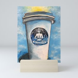 The Sun Rises on Coffee and Yoga Mini Art Print