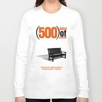 500 days of summer Long Sleeve T-shirts featuring 500 Days Of Summer by FunnyFaceArt