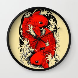 Koi / carp / japanese Wall Clock