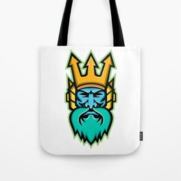 Poseidon Greek God Mascot Tote Bag