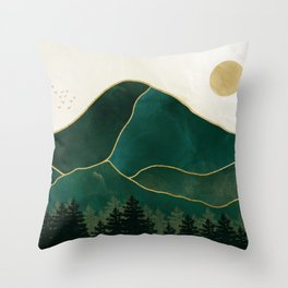 Mt Hood Emerald Mountain Abstract Throw Pillow