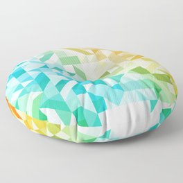 Colorful Geometric Pattern Saturated Rainbow Pattern Design (Red Pink Orange Yellow Green Blue) Floor Pillow