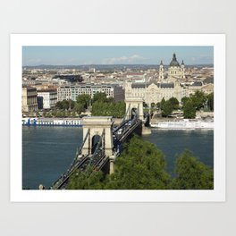 Budapest by Day Art Print