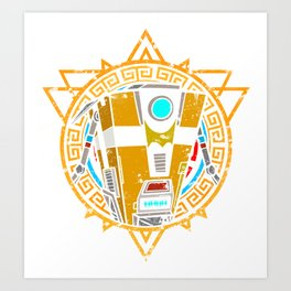 Stained Glass; ClapTrap Art Print