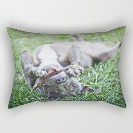 Pit Bull Puppy Rectangular Pillow