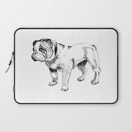 Bulldog Ink Drawing Laptop Sleeve