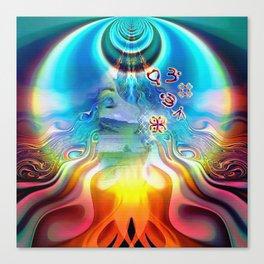 6 Language of Light Base Chakra Symbols Canvas Print