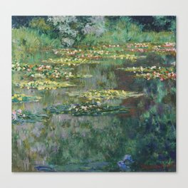 Water Lilies 1904 by Claude Monet Canvas Print