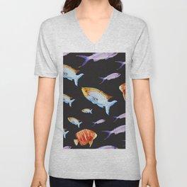 Fish Pattern 05 Unisex V-Neck