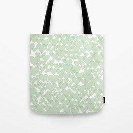 Green hearts Tote Bag