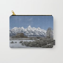 John Moulton Barn and the Grand Tetons Carry-All Pouch