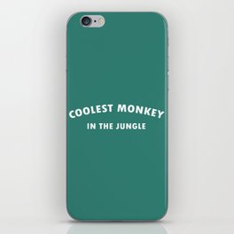 coolest monkey in the jungle or H&M killer iPhone Skin