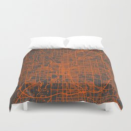 Indianapolis map Duvet Cover