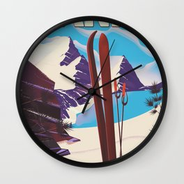 Banff National Park in Alberta Canada Wall Clock
