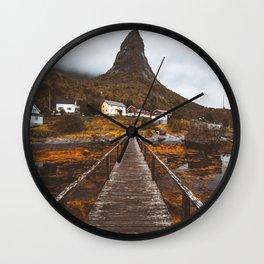 Magical Autumn Mountain  Wall Clock