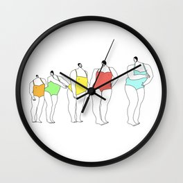 Bathers Wall Clock
