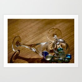 Glass and Glass Art Print