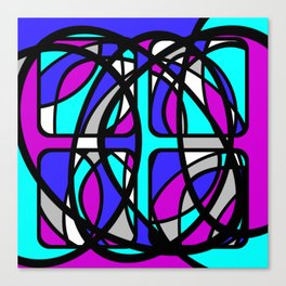 Community II - Purple and Blue Abstract Canvas Print
