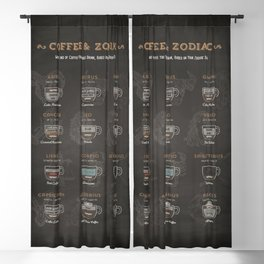 Coffee type and Zodiac sign #3 Blackout Curtain