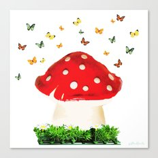 the magical toad stool Canvas Print