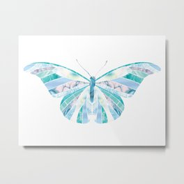 Beautiful Blue Butterfly Metal Print