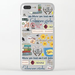 Gilmore Girls Collage Clear iPhone Case
