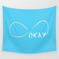 the fault Wall Tapestries featuring Fault In Our Stars - Okay by tangofox
