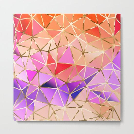 Rainbow Geometric pattern #4 Metal Print
