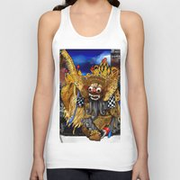 bali Tank Tops featuring Barong Dance of Bali by yadi sudjana