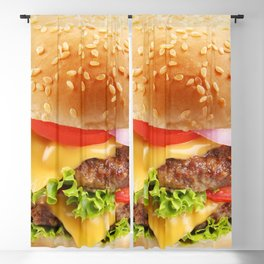 Cheeseburger 001 Blackout Curtain