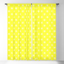 Cream Yellow on Electric Yellow Stars Blackout Curtain