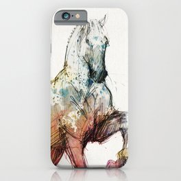 Horse (Siwy / Silver / color version) iPhone Case