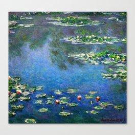 Monet Waterlilies Canvas Print