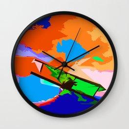 Biplane Aerobatics Wall Clock