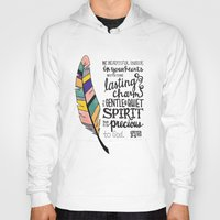 scripture Hoodies featuring Be Beautiful Inside - handlettered scripture by Megan Schreurs