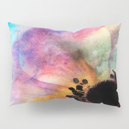 Abstract anemone one colorful watercolor Pillow Sham