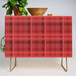 Red And Black Flannel Pattern Design Credenza